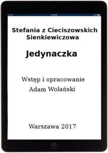 Jedynaczka_strona tytułowa